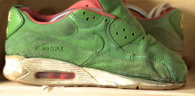 sneakers in de wasmachine