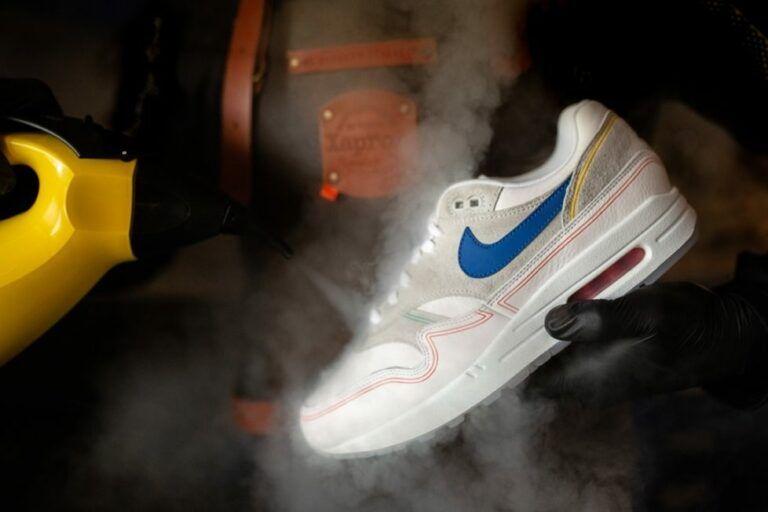 sneakers schoonmaken stoom