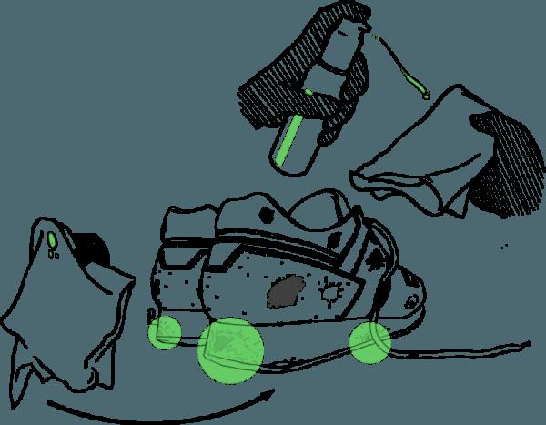 Midsole Cleaning Pakket - De Sneaker Reiniger (Leer, Kunststof, Midsole)