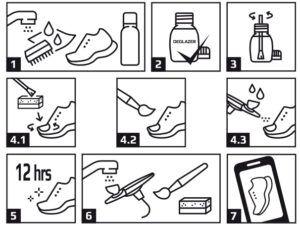 instructie sneaker verf