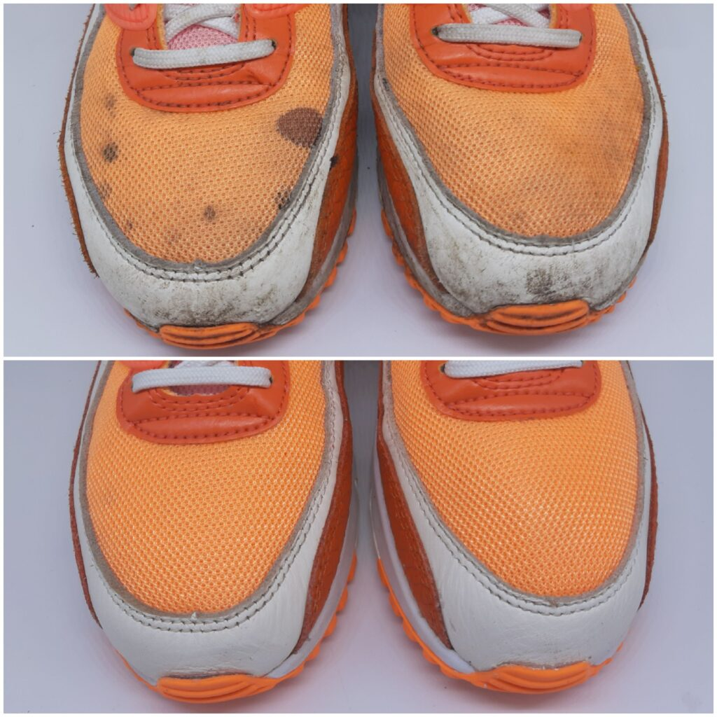 verfvlek schoenen